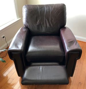 Recliner leather couch for Sale in Bristow, VA