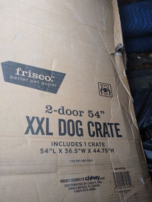 Xxlarge dog crate 100$ an will deliver for small fee$ for Sale in West Bloomfield Township, MI