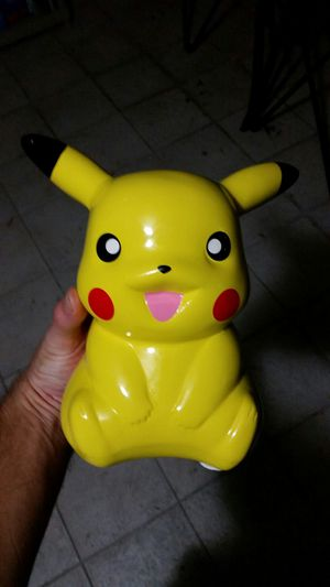 Nice Pikachu Coin Bank Pokemon Movie Figure Collectible Porcelain Anime for Sale in Casselberry, FL