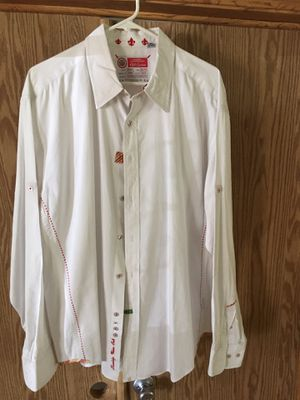 Robert Graham XXL Men's Beautiful White Dress Shirt. for Sale in Chandler, AZ