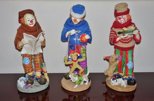 """(FREE DELIVERY) 13"""" collectible clown statues for Sale in North Las Vegas, NV"""