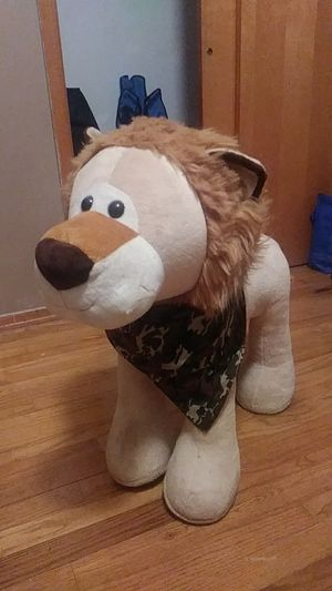 Large lion sit on stuffed animal toy for Sale in Wexford, PA