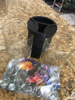 Beta Fish tank and decor $20 for Sale in Gustine, CA