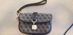 Dooney & Bourke Grey/Black Mini Clutch for Sale in Phoenix, AZ
