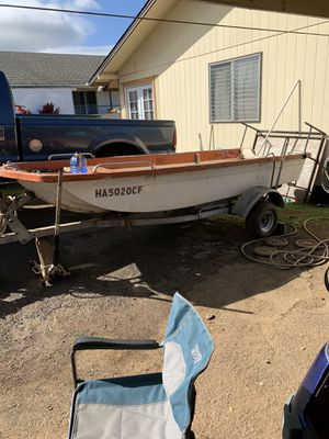14ft game fisher for sale or trade. Just gotta throw a kicker on it and you ready to fish or dive. Willing to trade for quad dirt bike or golf carts for Sale in Waimanalo, HI