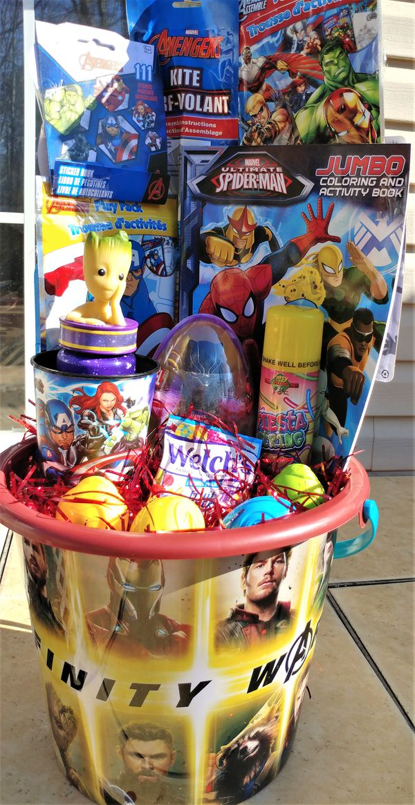 Marvels Infinity War Easter Bucket - Great activity bucket
