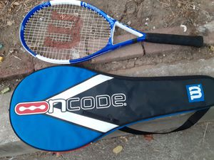 Wilson ncode tennis racquet and case for Sale in Martinez, CA