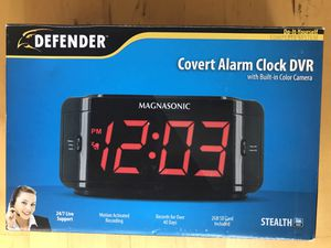 Covert alarm clock DVR with built-in color camera for Sale in Raleigh, NC