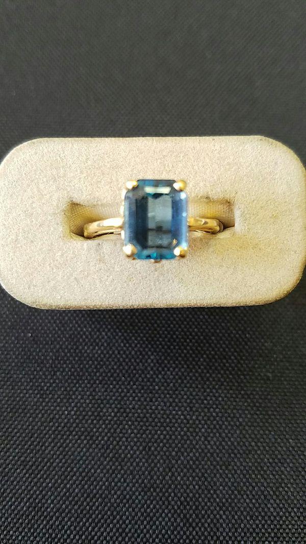 Y/G Blue Topaz Ring!