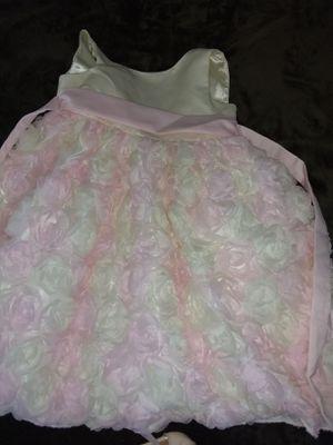 Elegant cream and pink flower girl dress (size 5) for Sale in Deltona, FL