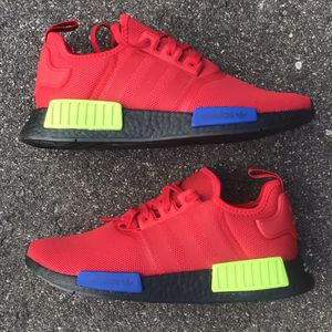 NEW Adidas NMD R1 Originals Boost Red Black Blue Size 8, 9, 9.5, and 11 for Sale in Saint Paul, MN