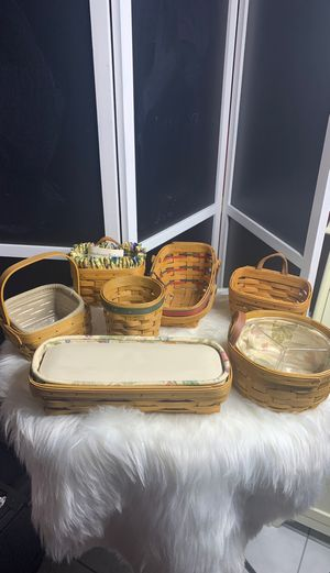 Longaberger Baskets/ $75 for All for Sale in Port Richey, FL