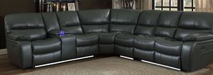 Power reclining sectional with led light and usb connecter for Sale in Elgin, IL