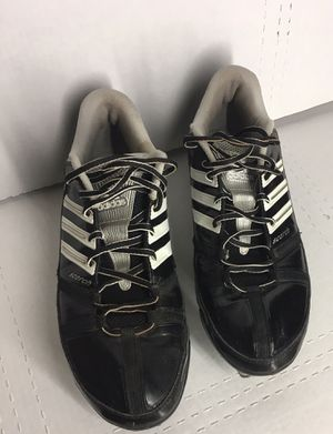 Adidas Scorch Size 11 White and Silver on Black Men's/Boys Football/Soccer Cleats for Sale in Colton, CA