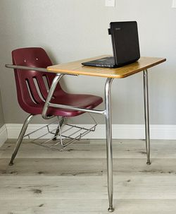 School Student Desk And Chair Combo With Book Rack By Virco for Sale in City of Industry,  CA