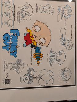 Family Guy Animation Cel Cell STEWIE MODEL SHEET (2006) Art Artwork for Sale in Pompano Beach,  FL