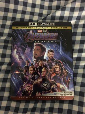 Avengers Endgame 4K UHD Blu Ray for Sale in Temple Terrace, FL