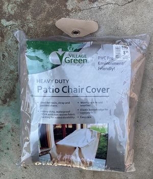 New! Village Green Heavy Duty Patio Chair Cover, Look 👀 Pictures for details $7.00 for Sale in Azusa, CA