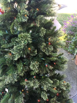 6 foot artificial Christmas tree with lights and stand never used for Sale in San Lorenzo, CA