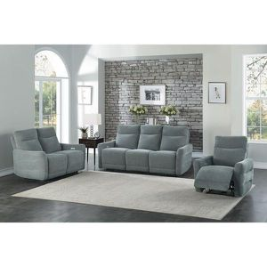POWER Double Lay Flat Reclining Sofa with Power Headrests for Sale in Modesto, CA