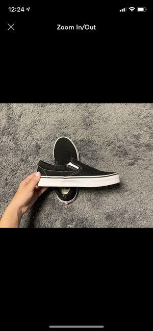 Womens Black Slip on vans size 6 for Sale in Harrisonburg, VA