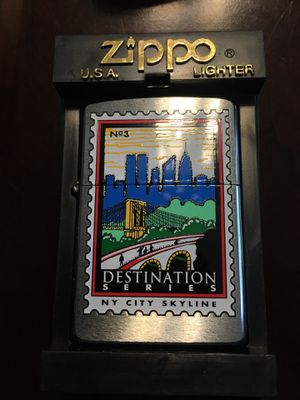 New ZIPPO LIGHTER New York City Skyline WITH FLINTS ! for Sale in Wilmington, MA