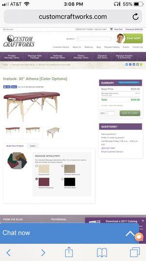 Custom craft works Athena massage table for Sale in Salt Lake City, UT