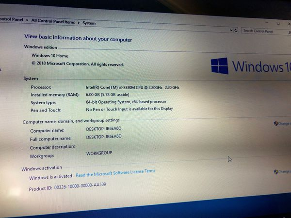 Refurbished Windows 10 laptop