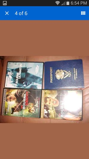 The Jason Bourne Collection (DVD, 2007, 4-Disc Set) in like new condition for Sale in Olney, MD