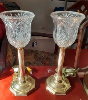 Heavy, bright gold buffet lamps. for Sale in McDonough, GA