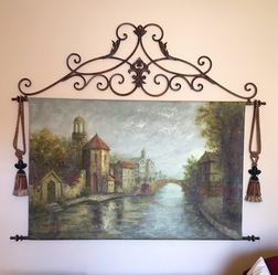 Hemispheres Oil Wall Tapestry for Sale in Frisco,  TX