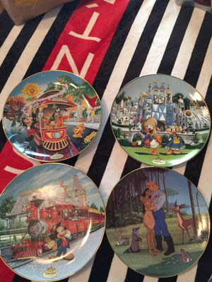 Antique collectible glass Disney plates set for Sale in Fresno, CA