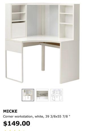 Micke white desk for Sale in Fort Lauderdale, FL