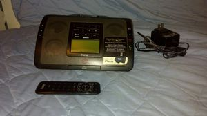 Bluetooth Stereo System for IPhone With Alarm Clock Radio for Sale in Los Angeles, CA