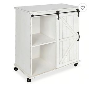 Kate and Laurel Cates Kitchen Cart/Storage Cabinet in White for Sale in Huntington Park, CA