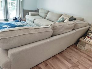 Used beige Sectional Couch for Sale in Charlotte, NC