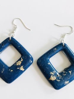 Handmade Navy And Gold Earrings for Sale in Pittsburgh,  PA