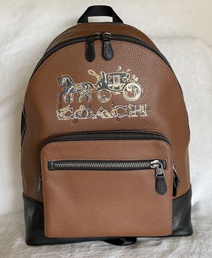 NEW WITHOUT TAG AUTHENTIC Coach Mens West With Chelsea Animation Horse Carriage Backpack for Sale in Upland, CA