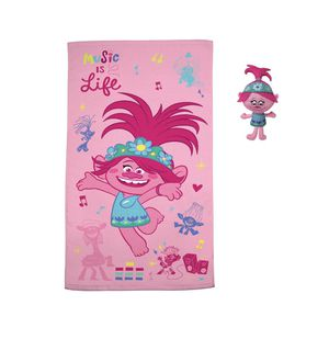 Trolls World Tour 2-Piece Bath Towel and Character Scrubby Set, Kids Bath Set, Poppy for Sale in Dacula, GA