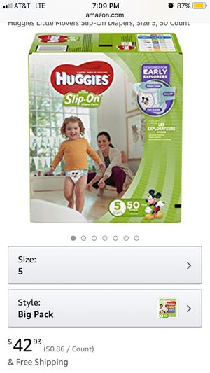 Huggie slip on size 5 for Sale in Piscataway, NJ