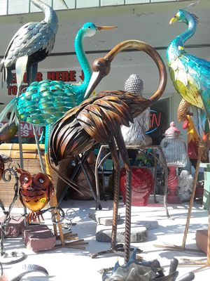 Heavy metal Egret garden decor for Sale in Dunedin, FL