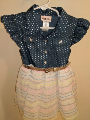 Like New! Denim Top, Tulle bottom, Jewel buttoned, size 3T party dress for Sale in NJ, US