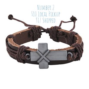 New in Package Faux Leather Adjustable Bracelet Faith Inspirational Cross for Sale in Troy, VA