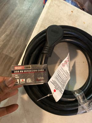 30A rv extension cord for Sale in San Antonio, TX