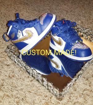 Swarovski Crystal added Air Jordan! Sz 6c Toddler for Sale in St. Cloud, MN