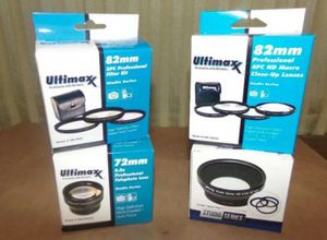 72mm ULTIMAXX 2.2x Telephoto Macro 0.43x Wide Angle Studio 82mm Filter Lens Kit for Sale in Seattle, WA