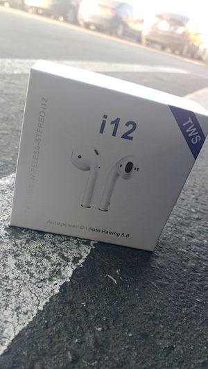 I12 TWS Wireless bluetooth headphones for Sale in Perris, CA
