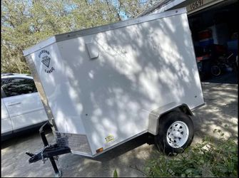 Trailer 2021. 4 D rings. 4x6 enclosed w/ramp for Sale in Dunnellon,  FL