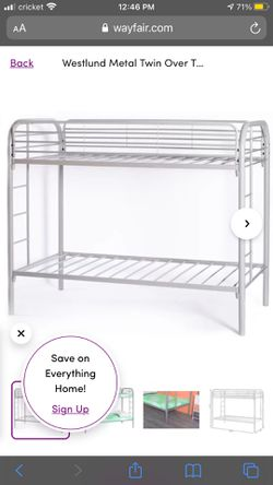 Twin metal bunk beds for Sale in Nashville,  TN