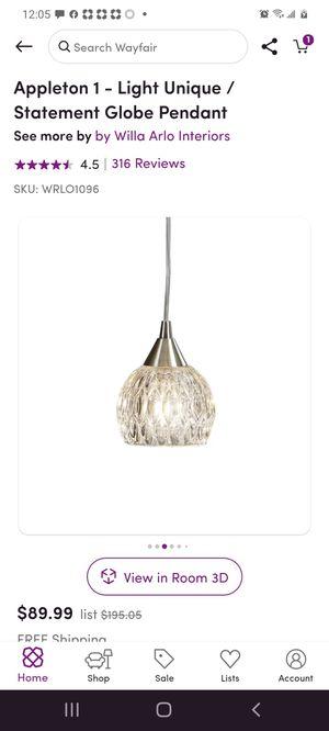 Appleton 1- light globe pendant light. for Sale in Richmond, TX